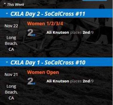 Cross Results Screen Shot